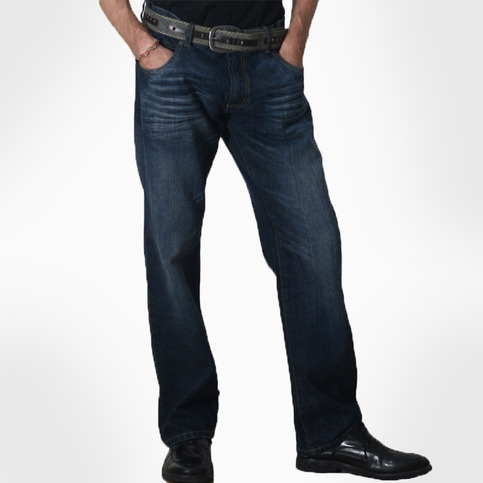 Men's Vintage Straight Jeans-Fotini Regular Fit