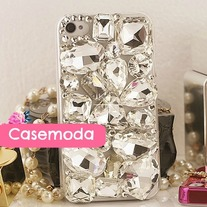 New Bling Crystal Sparkle Various Shapes Big Rhinestones iPhone 4/4S Case