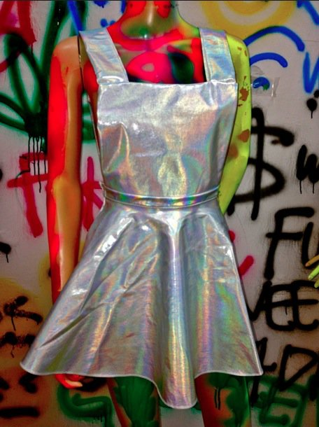 Ad♡ringly Omighty Hologram Pinafore Dress Online Store Powered By Storenvy