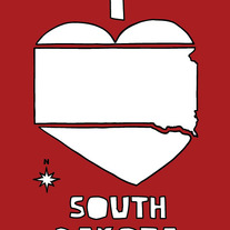 South Dakota love, 5x7 print