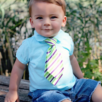 Purple and Green LIKE DADs Necktie for baby to toddler kids