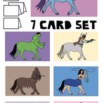 Centaurs Blank (no text) 7 card set