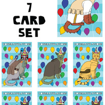 Cats Dressed as Star Wars Congrats 7 card set
