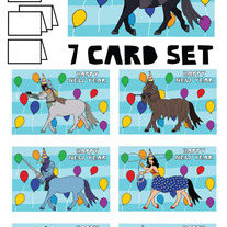 Centaurs New Year 7 card set