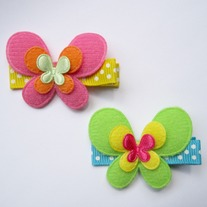 Butterfly clip, Strawberry-Mango