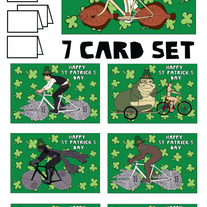 Star Wars on bikes St patricks 7 card set