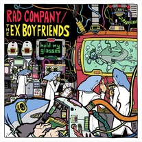 "The Ex-Boyfriends/Rad Company-""Hold My Glasses"" Split LP"