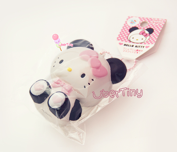 Super Rare Hello Kitty in a Panda Costume Squishy ? Uber Tiny ? Online Store Powered by Storenvy