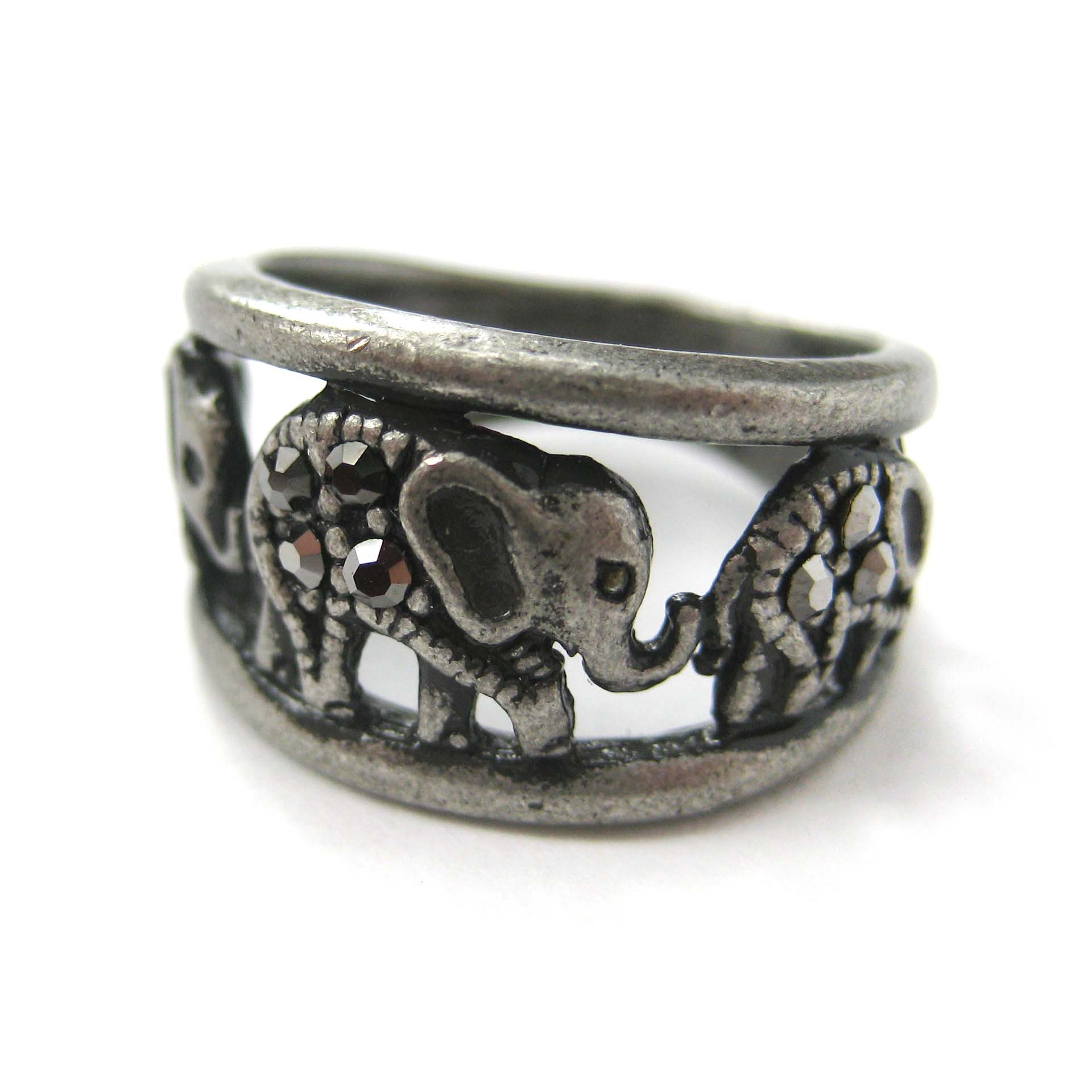elephant animal ring in silver 183 dotoly 183 the animal wrap