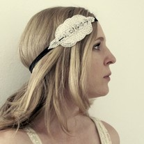 The Constance - Beaded and Rhinestone Stretch Headband