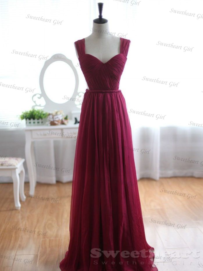 Wine Bridesmaid Dresses 38