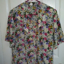 Notations Floral Blouse sz 12