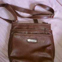 Strada Brown Leather Shoulder Bag