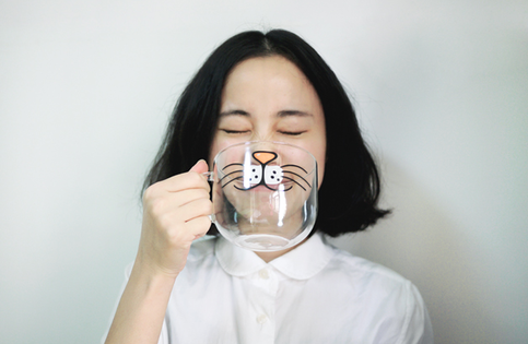 cute and quirky cat cartoon mug
