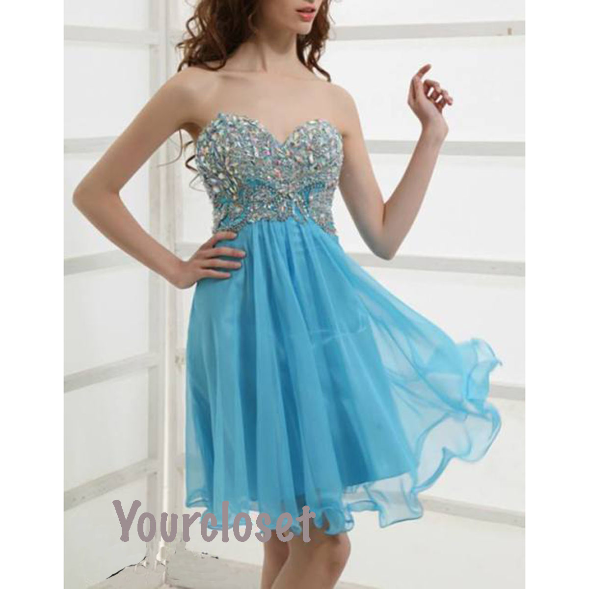 Short blue bridesmaid dresses hot girls wallpaper for Short blue wedding dresses