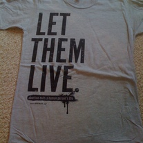 """Let Them Live"" T-shirt"