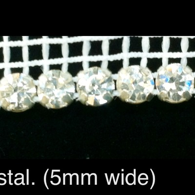 Crystal trim. 1 row (per 1/2 yard)
