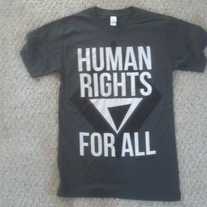 """Human Rights For All"" Charcoal Crew Neck"