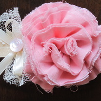 Sweet Blush and Cream headband