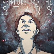 """Carl Sagan: To The Stars"" Print (A4)"