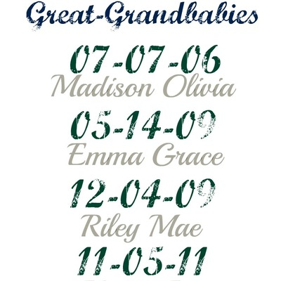Great grandbaby print