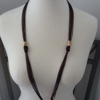 Chocolate Ringlets Necklace Set