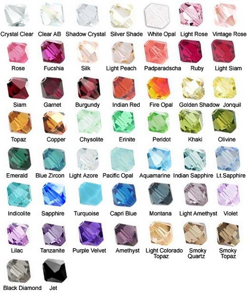 Gemstone color chart gloria s glitz glam online store