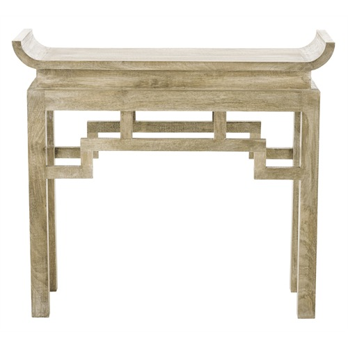 Chen solid wood console table arteriors home table on - Table console chene ...