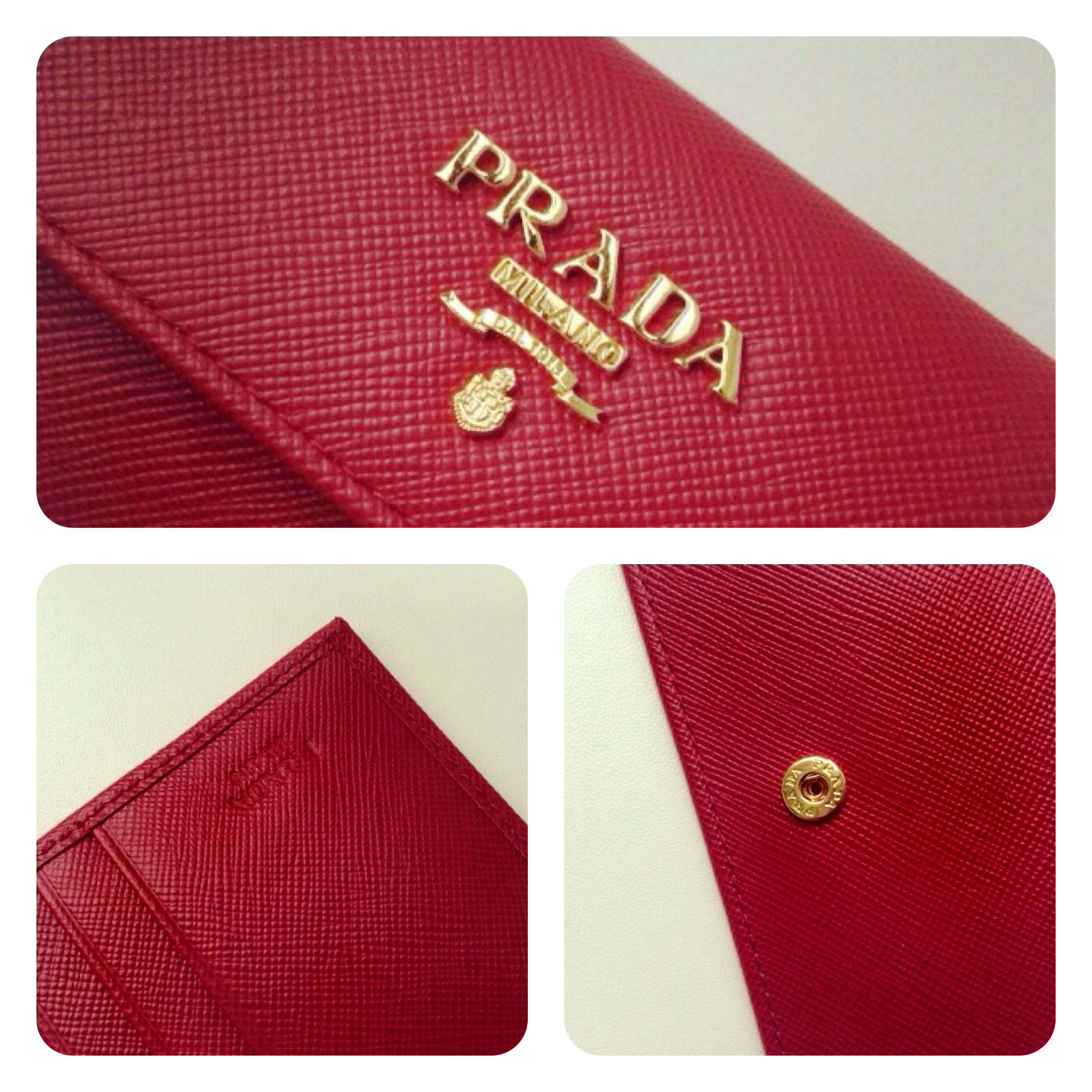 eed4ada234aa ... PRADA Saffiano Fuoco Bi-Fold Flap Wallet - Thumbnail 4