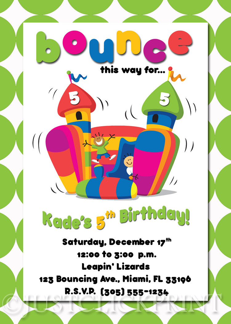 bounce house birthday invitations net bounce house birthday invitation printable middot just click print birthday invitations