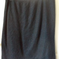 Blue and Black Knit Skirt