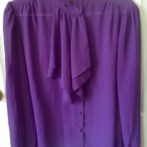 Rhonda Lee  Sheer Purple Blouse