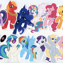 Stickers - My Little Pony FiM Character Stickers (Fanart)