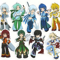 Stickers - Elemental Chibi Bishonen Set of 9