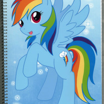 Notebook L - My Little Pony FiM: Rainbowdash (Fanart)
