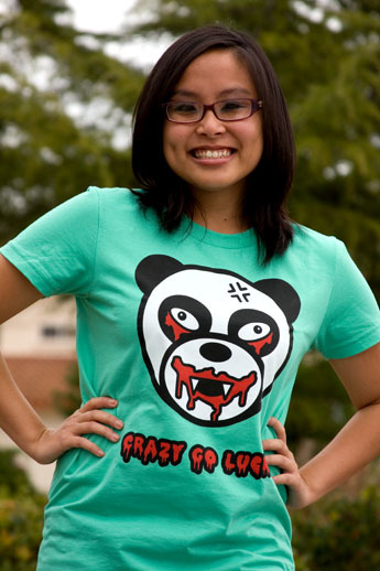 Panda assassin women's tee