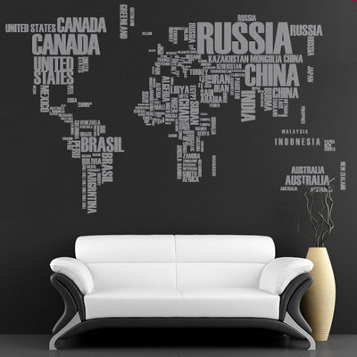 World maps wall art decals moonwallstickers online store world map text with countries names for housewares gumiabroncs Gallery