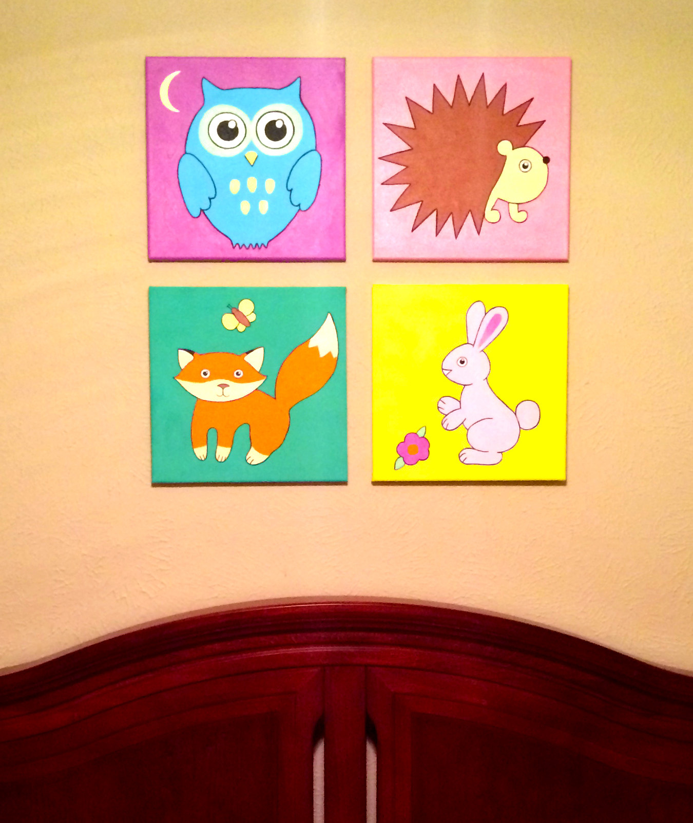 Original hand made owl nursery wall art, 12\