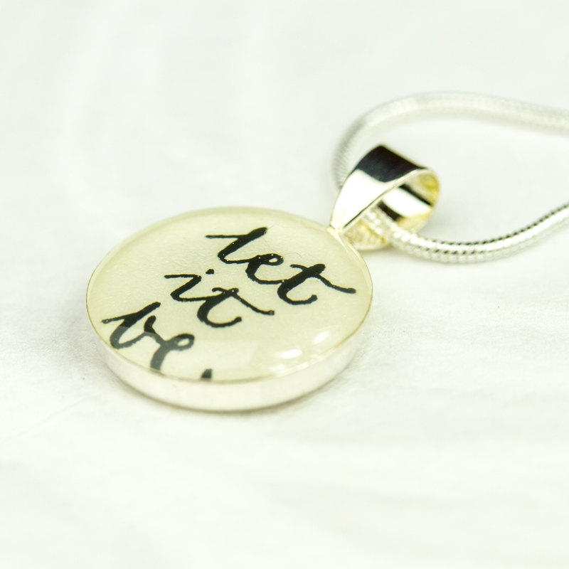 Lyric let it be the beatles lyrics : Let It Be Necklace - Inspirational Quote Necklace, The Beatles ...