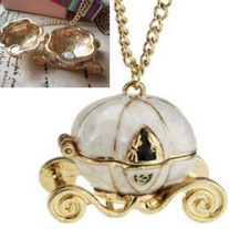 Cinderella Pumpkin Carriage Necklace
