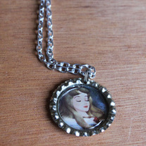 Sleeping Beauty Bottlecap Necklace