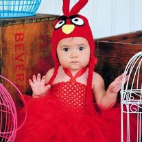 Red Bird Halloween Baby Girls Tutu and Hat Set Costume