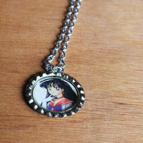 Sailor Mars Bottlecap Necklace