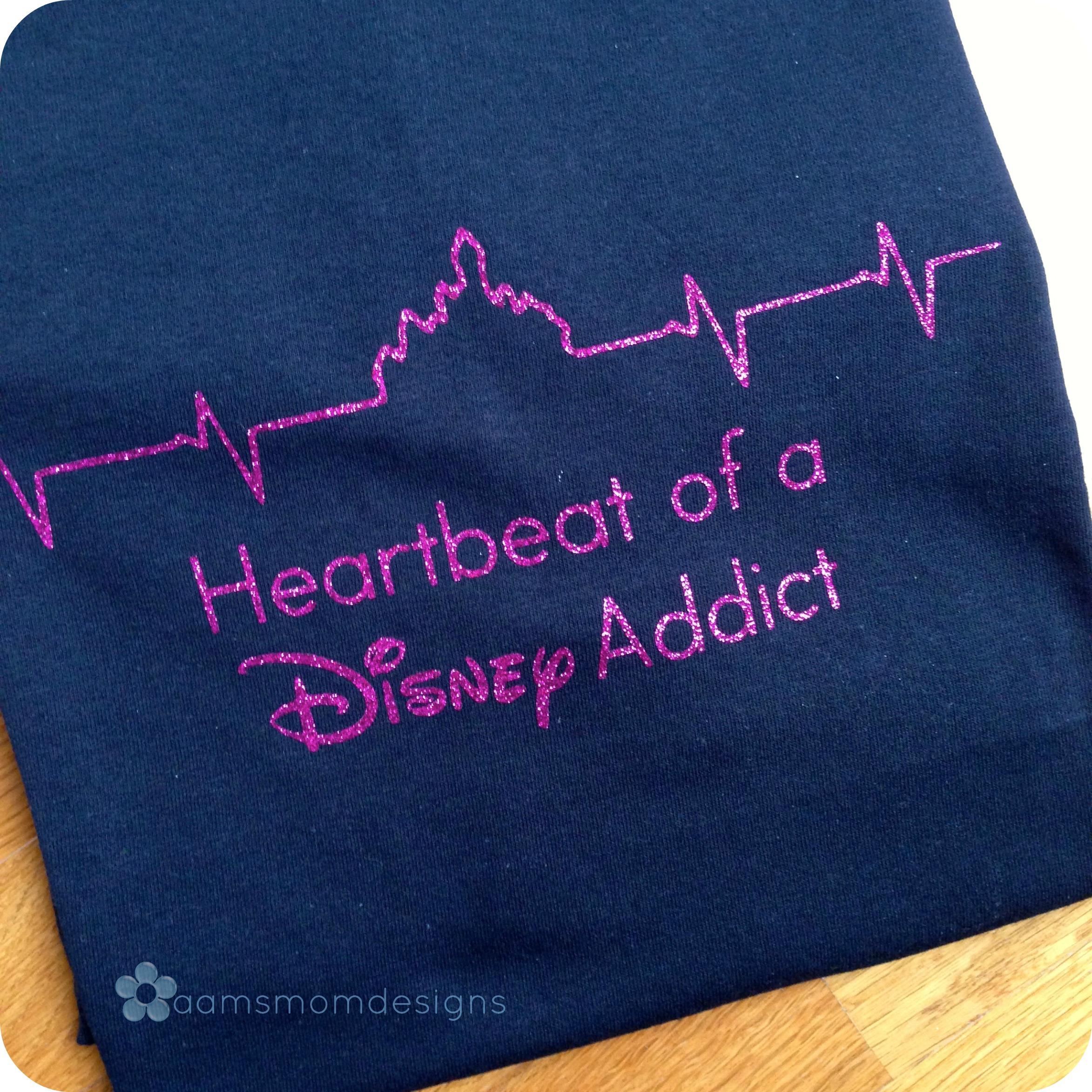 Heartbeat Of A Disney Addict T Shirt Castle Heartbeat