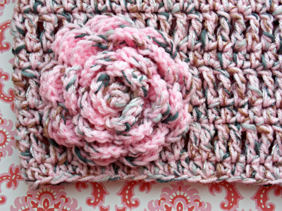 Infinity Scarf , Cowl, Circle Scarf with Flower Brooch ~ Pink, Browns, Warm