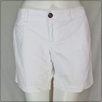 White Low Rise Walking Shorts