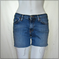 Red Engine Denim Cutoff Shorts