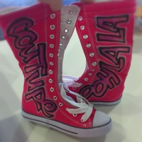 Penelope Wildberry Hot Pink Ooh La La Couture High Tops - Thumbnail 1