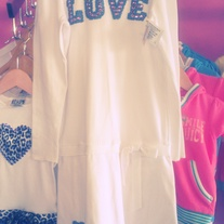 "Hope White Dress ""Love With Heart"""