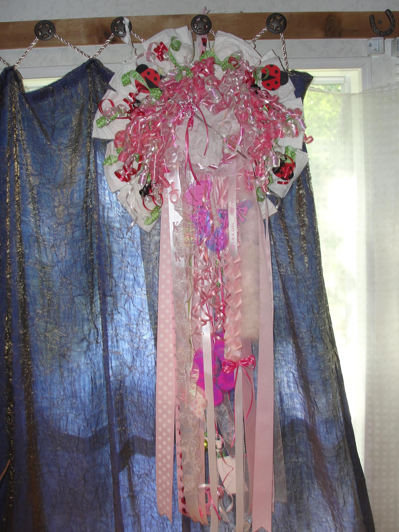 ... Baby Wreath ~ Door Hanger ~ Bow Hanger   Thumbnail 3
